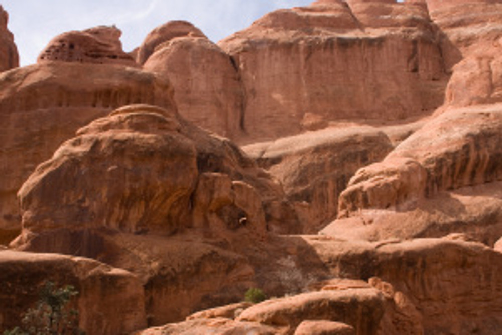 Kissing Turtles Arch in the Fiery Furnace - Arches National Park