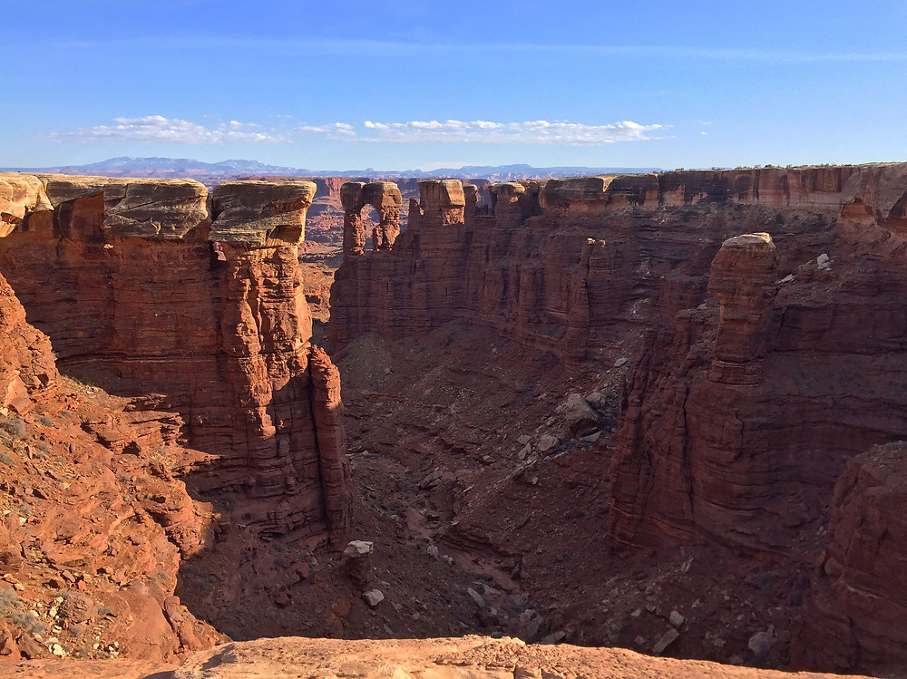 View of Monument Basin from the White Rim Trail Canyonlands National Park Island in the Sky Near Moab Utah
