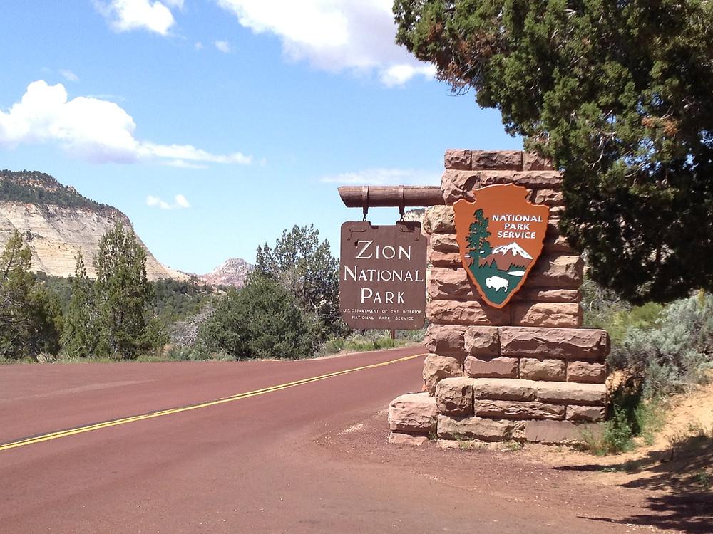 Eastern Park Entrance to Zion National Park, Utah