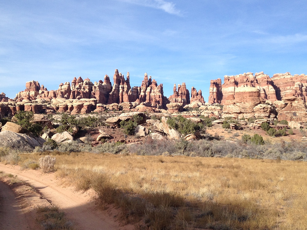 The Chesler Park Loop Trail is one of the iconic trails in the Needles District of Canyonlands National Park