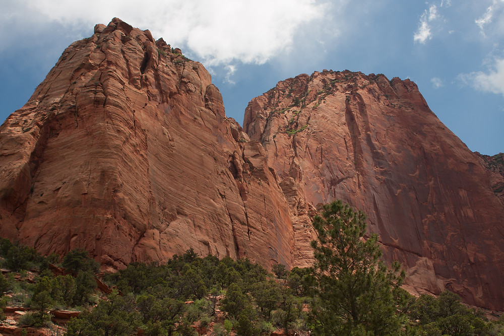 Kolob Canyons is located in the north western corner of Zion National Park