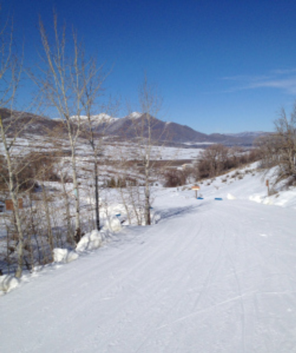 Back country cross country skiing at Soldier Hollow
