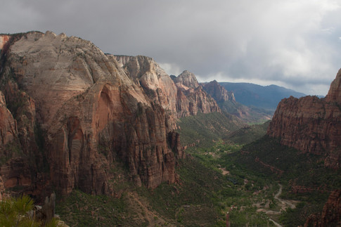 View of Zion Canyon from Angels Landing, Zion National Park