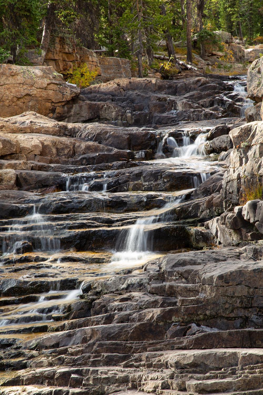 Provo River Falls, Utah, Cascades above the falls