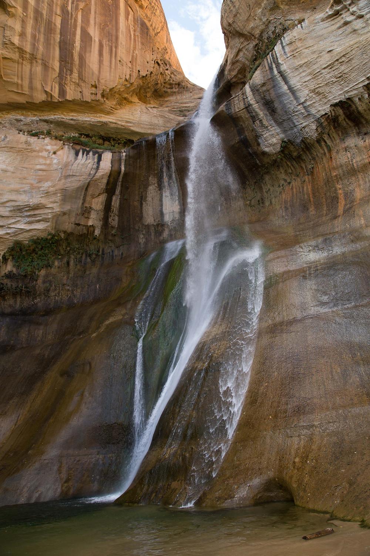 Afternoon shade bathes Lower Calf Creek Falls, near Escalante Utah