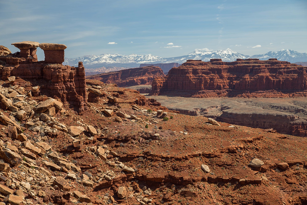 Near the Gooseneck Overlook on the White Rim Trail in Canyonlands National Park, Island in the Sky