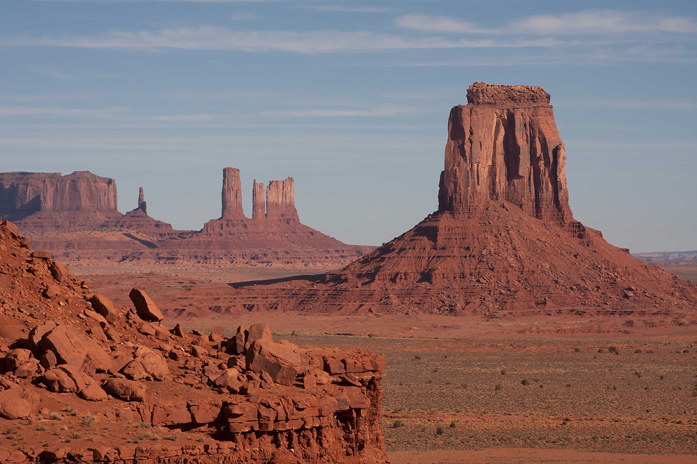 Along the 17 mile loop their are different monuments that can be seen from various view points