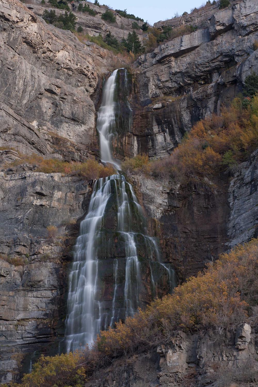 Full view of Bridal Veil Falls, Provo Canyon