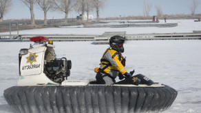 Hovercrafting on Utah Lake
