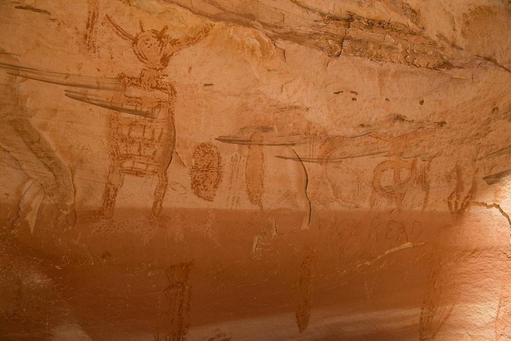 Alcove Gallery in Horseshoe Canyon, Canyonlands National Park