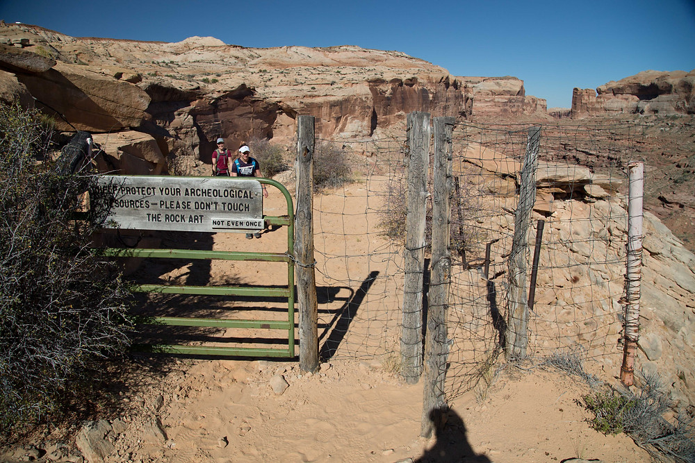 Horse gate in Horseshoe Canyon in Canyonlands National Park