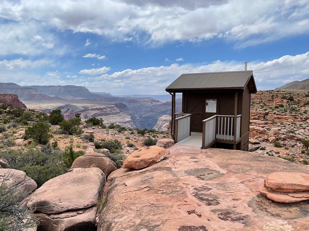 The restroom at Toroweap overlook in Grand Canyon National Park