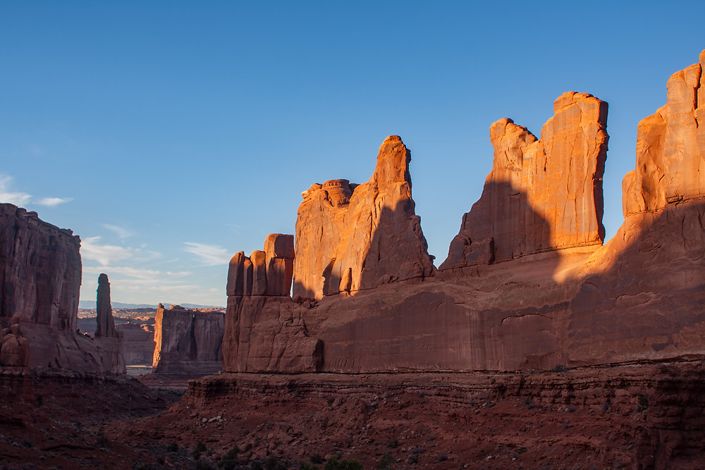 """Park Avenue in Arches National Park near Moab Utah was made famous by the move """"Indiana Jones and the Last Crusade"""""""