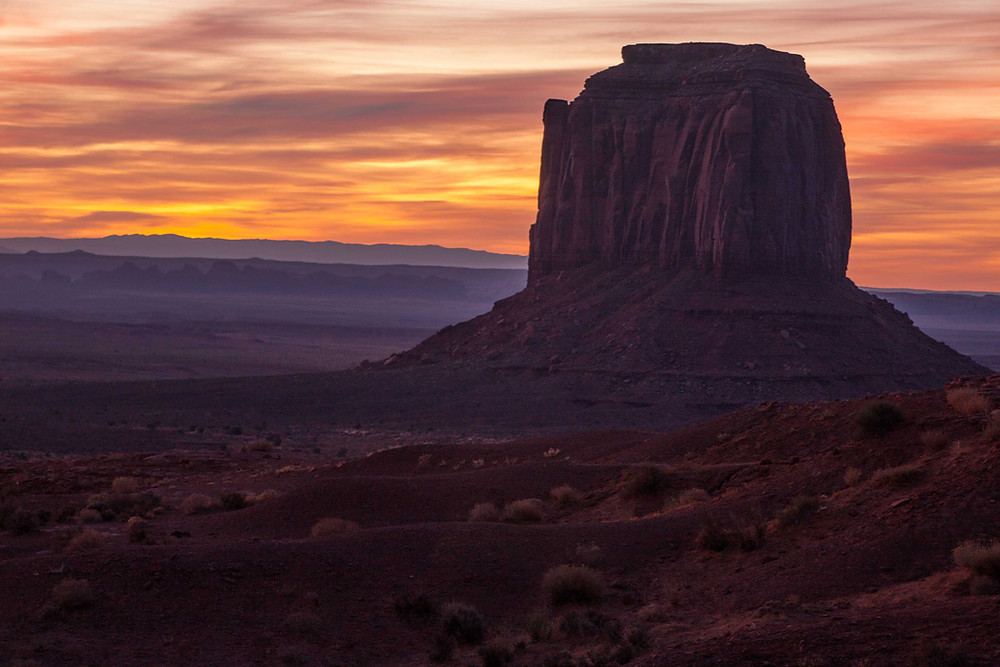 One of the many monuments in monument valley in the Navajo Nation on the Utah Arizona border