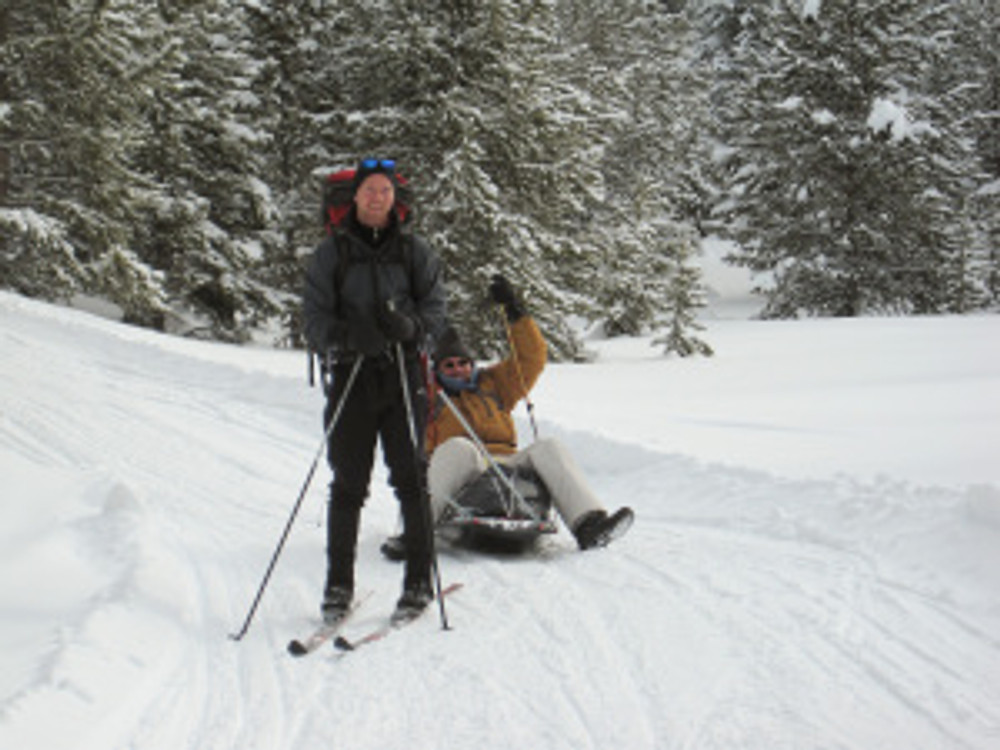 A Gear Sled on the Lily Lake Trail
