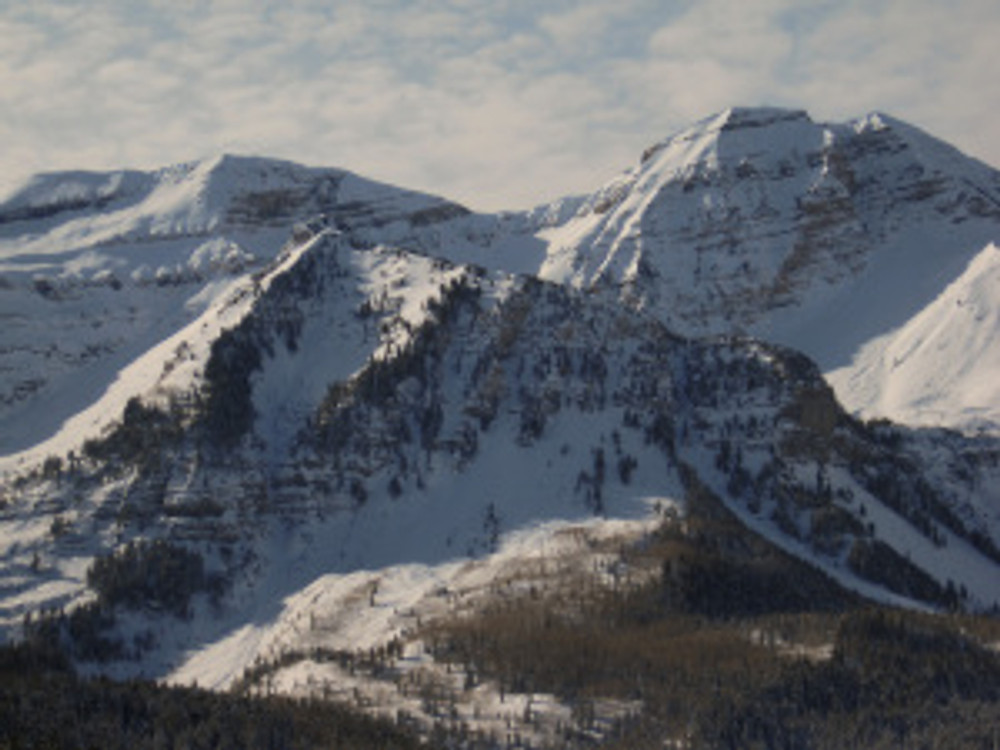 View of Timpanogos from the Ridge in American Fork Canyon