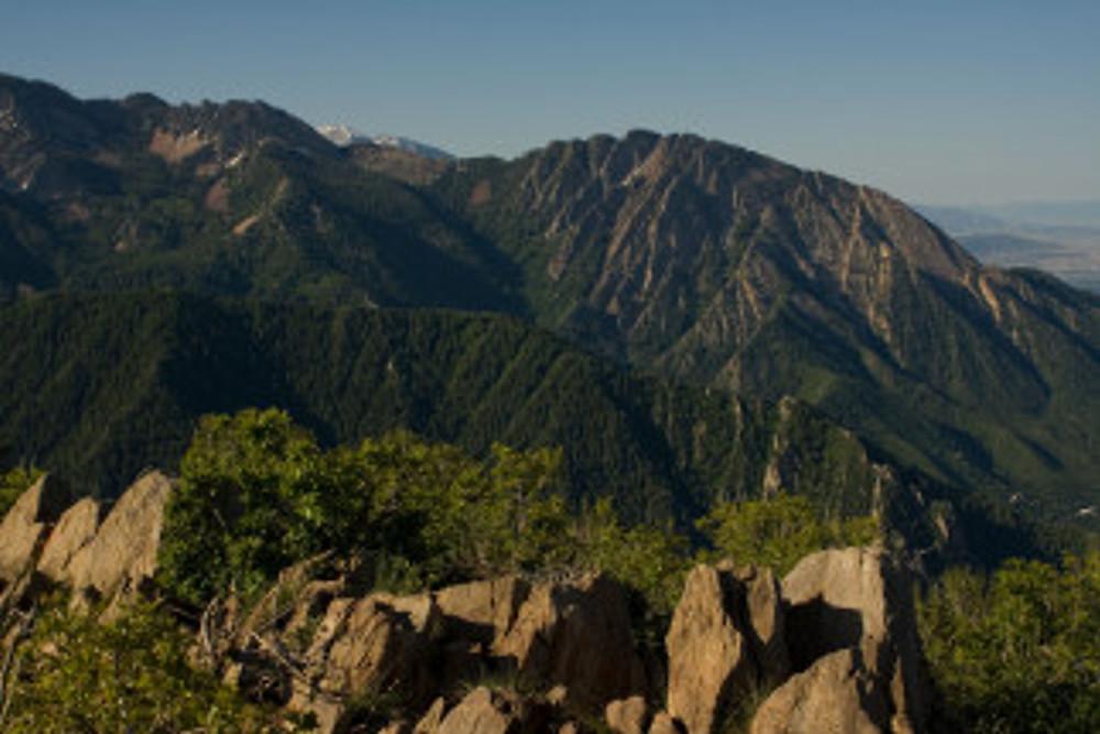 View of Mount Olympus from just below the Summit of Grandeur peak