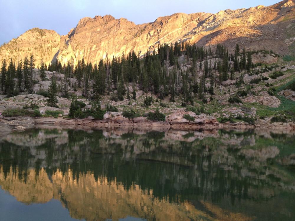 Cecret Lake Reflection near Alta Utah