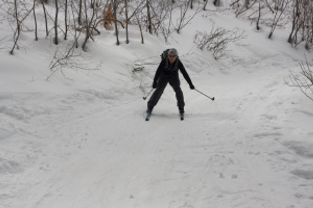 Cross Country Skiing up Provo Canyon near Aspen Grove