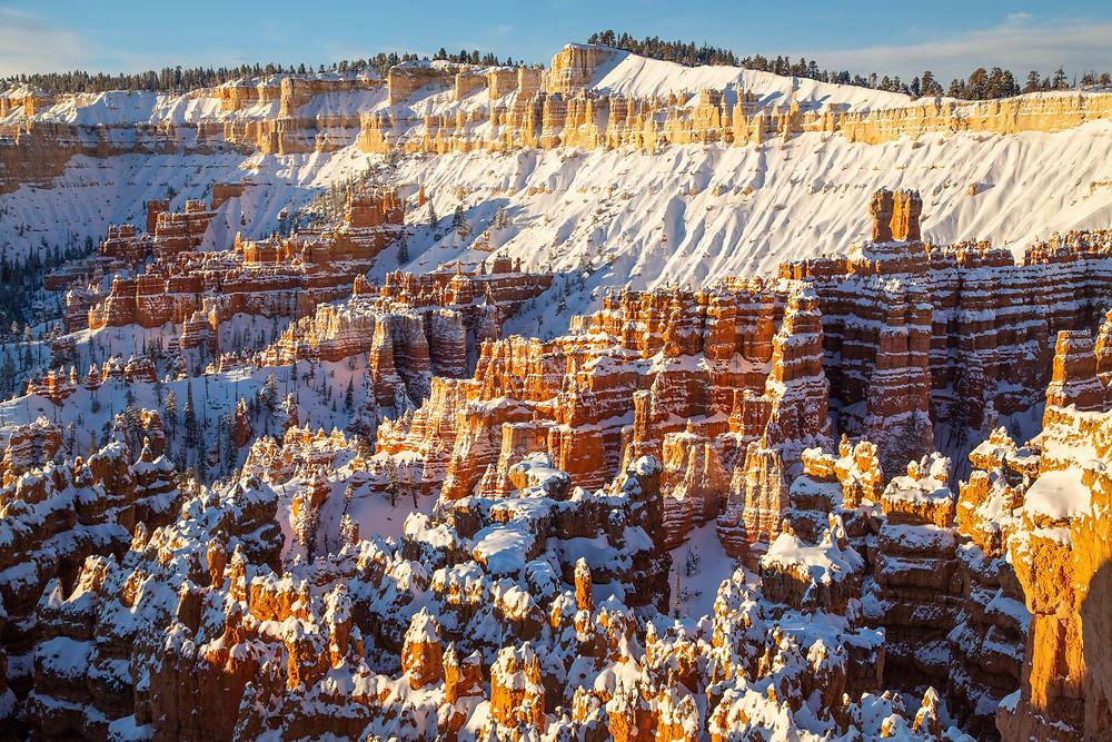 Winter Snows at Sunrise Point, Bryce Canyon National Park, Utah