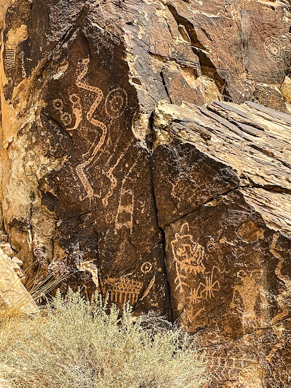 Many different symbols are found amongst the petroglyphs of the Parowan Gap located near Parowan Utah