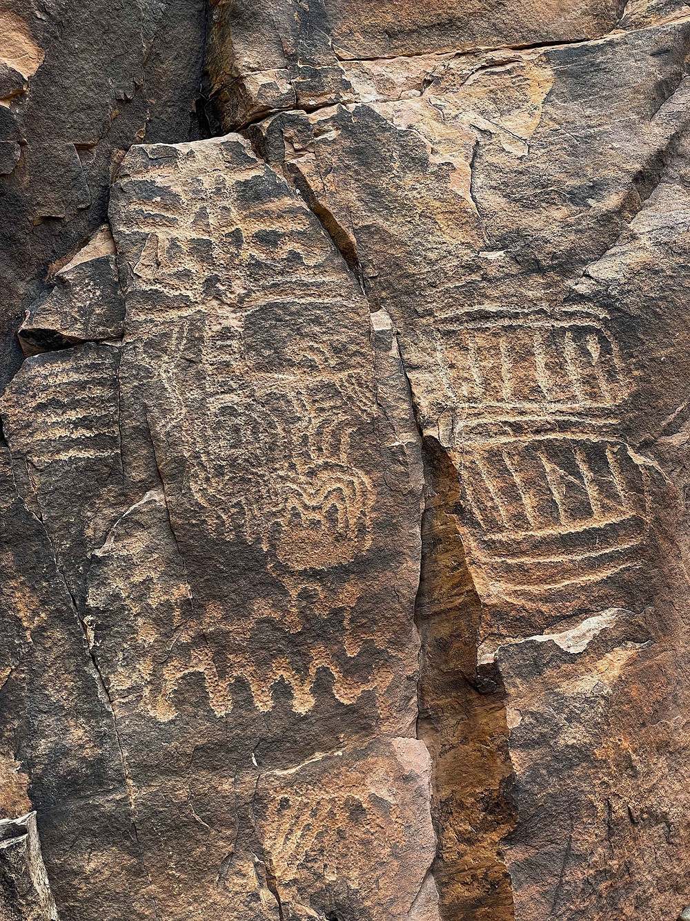 Ancient Petroglyphs from many ancient peoples are found in the Parown Gap, near Parowan Utah