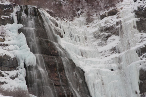 Bridal Veil Falls in Winter, Provo Canyon