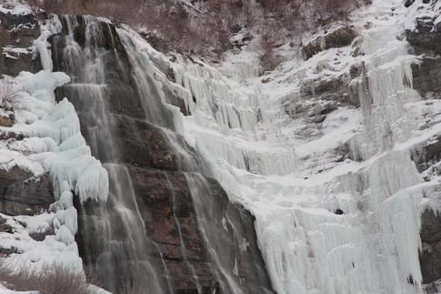 Bridal Veil Falls in Winter, Provo Canyon