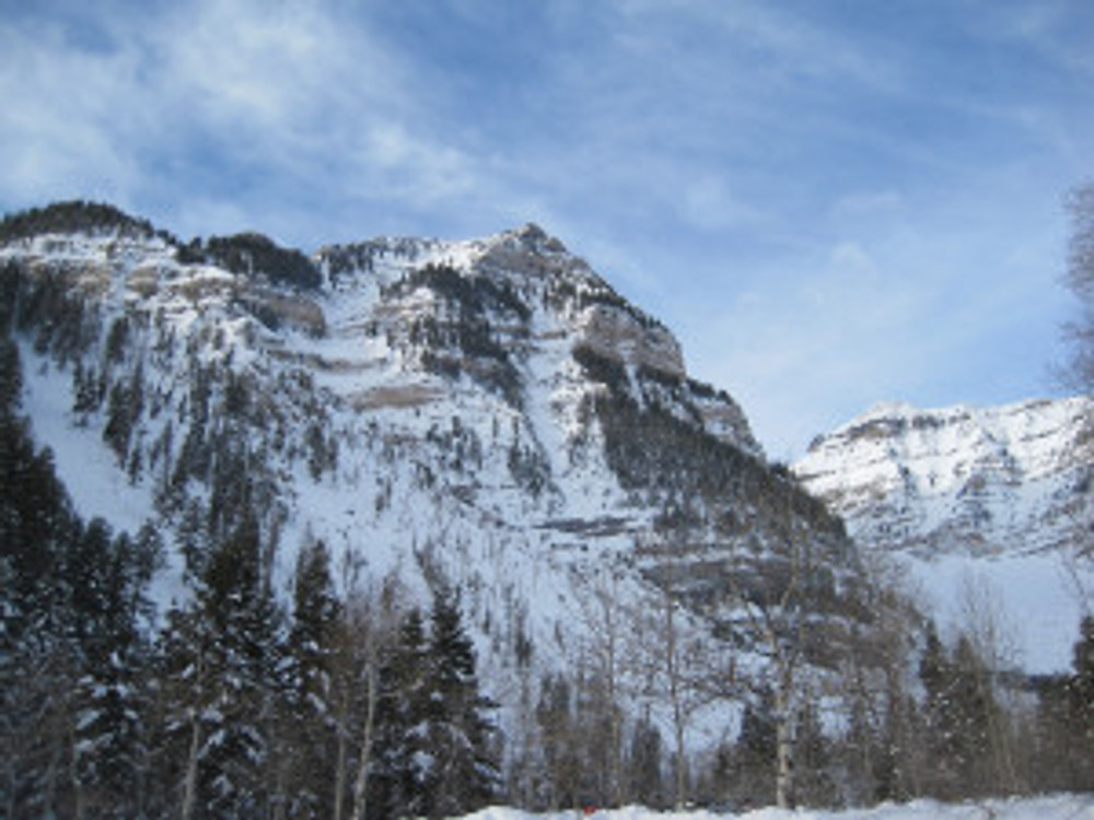 View of the South Summit of Timp From Aspen Grove