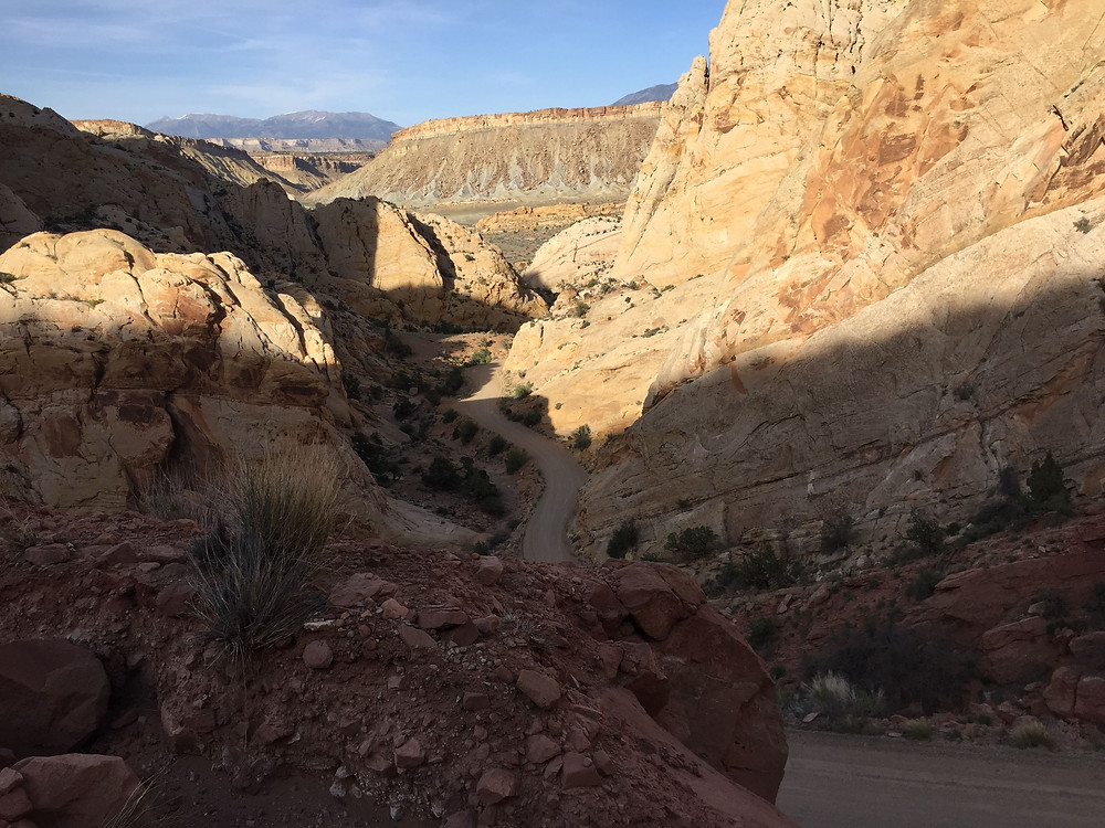Just of the Nottam Bullfrog Road is the Burr Trail Switchbacks in Capitol Reef National Park, Utah