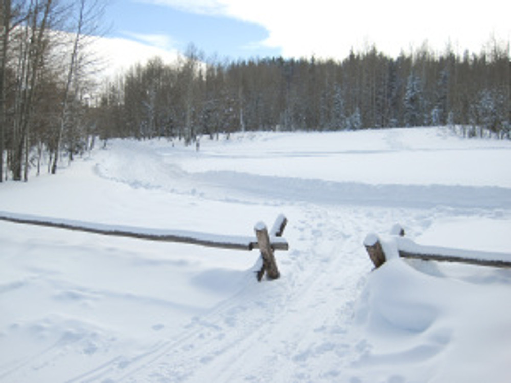 Lily Lake Trail enters into snowmobile country