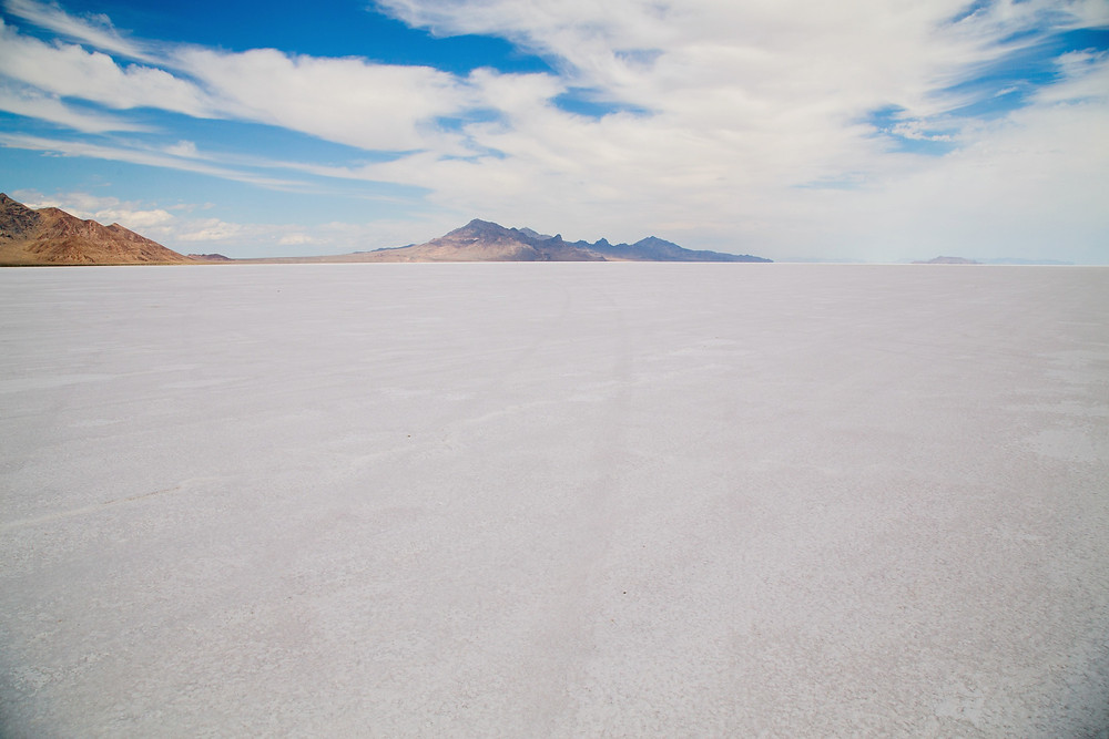 The Salt Flats on the Great Salt Lake is a great side trip on your way out to the Sun Tunnels