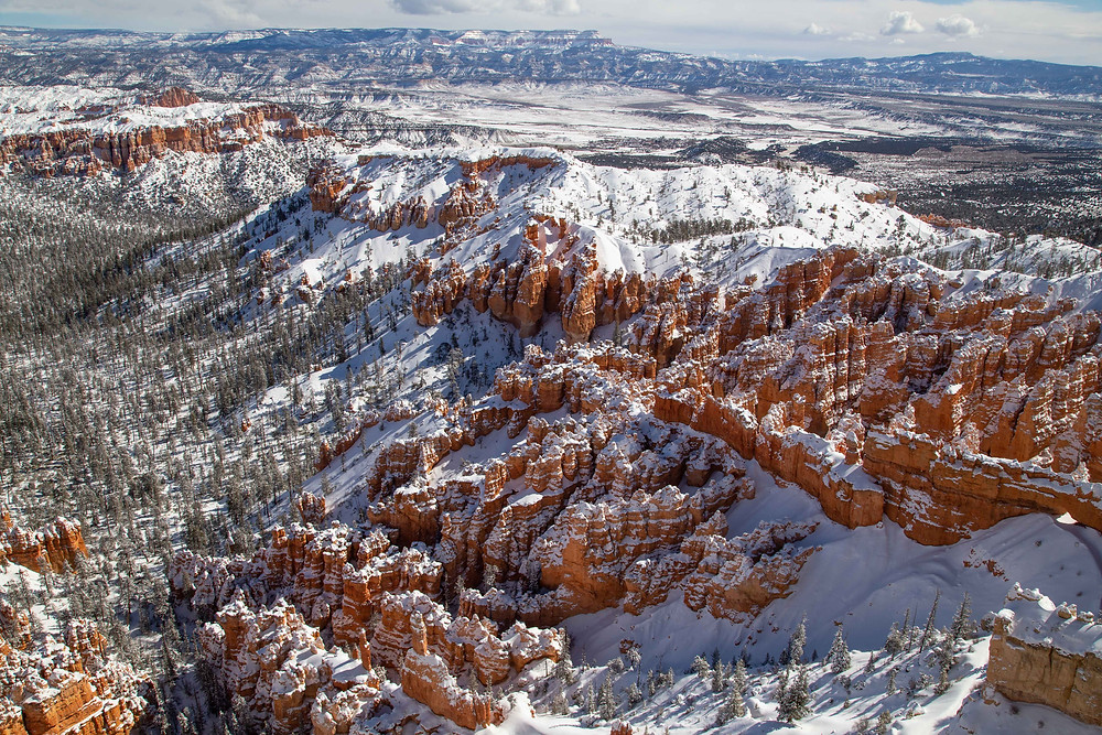 Winter at Bryce Point in Bryce Canyon National Park, Utah