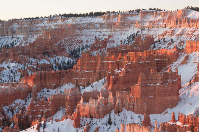 Bryce Ampitheater in Winter, Bryce Canyon National Park