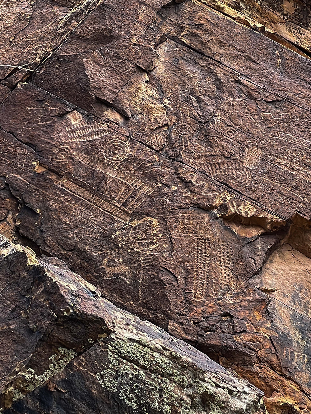 Ancient Petroglyphs at the Parowan Gap, near Parowan Utah