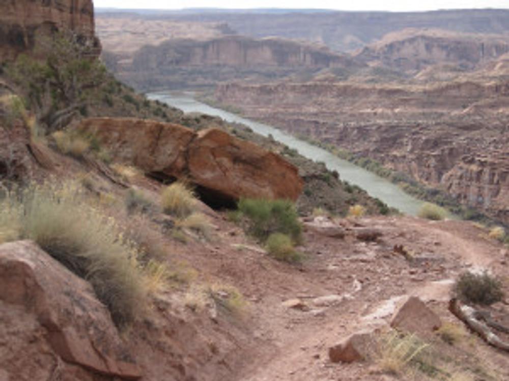 Colorado River From Porcupine Rim Bike Trail near Moab Utah