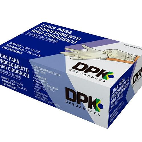 Luva Látex Procedimento Não Cirúrgico Com Pó Caixa com 100 UND Descarpack