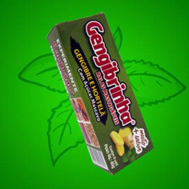 Bala de gengibre gengibrinha sabor hortelã