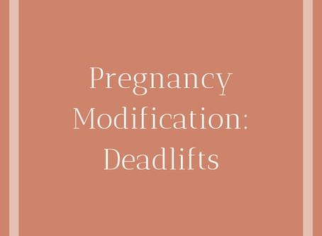 Deadlift Modifications During Pregnancy