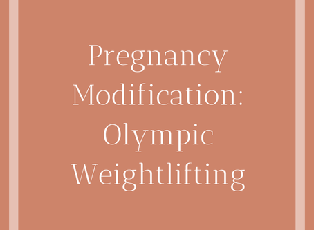 Olympic Weightlifting During Pregnancy
