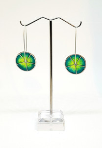 Earrings - silver, enamel