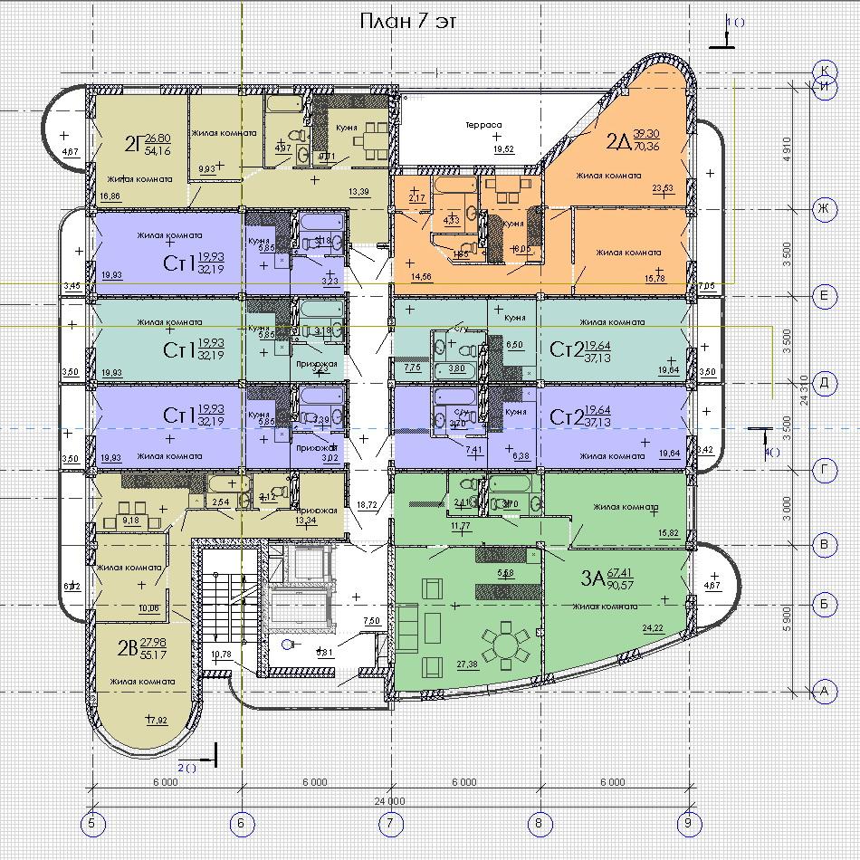 План 7 этажа