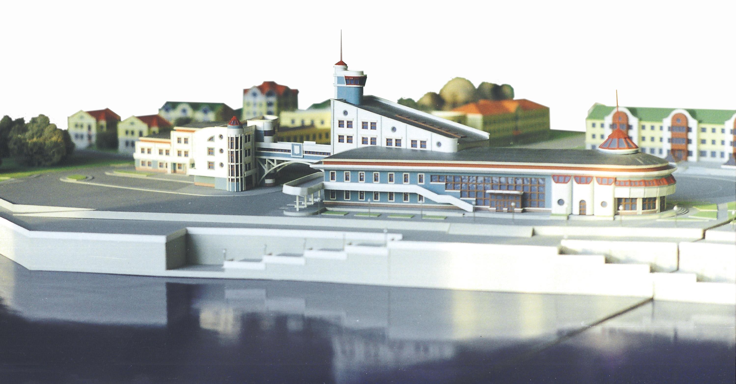 Макет здания Речного вокзала