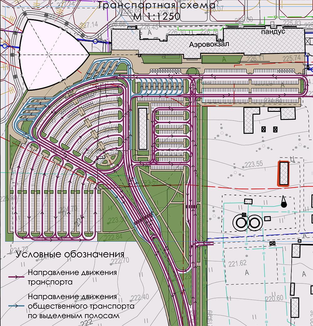 Транспортная схема аэровокзала