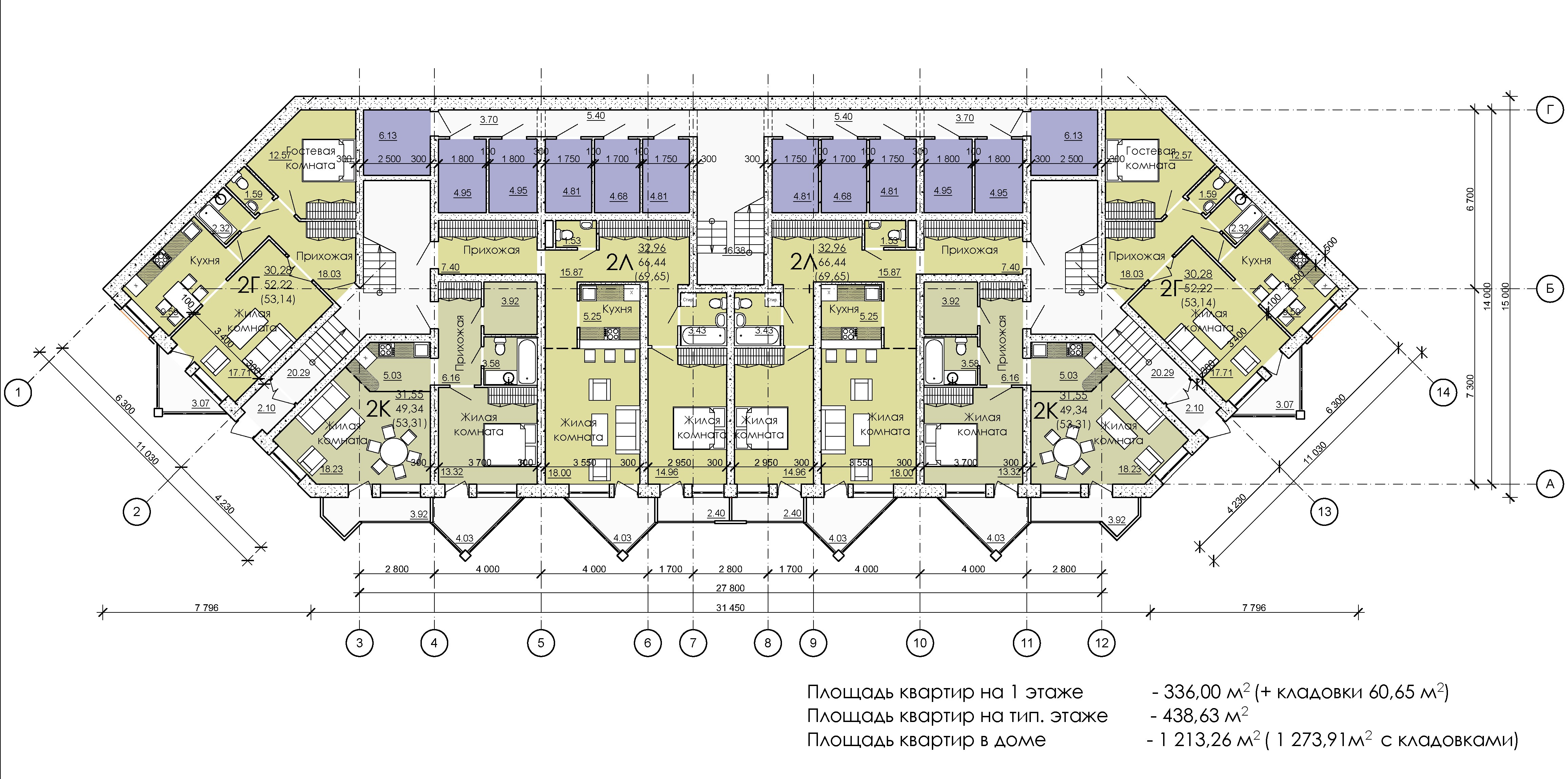 План -1 этажа дома №1
