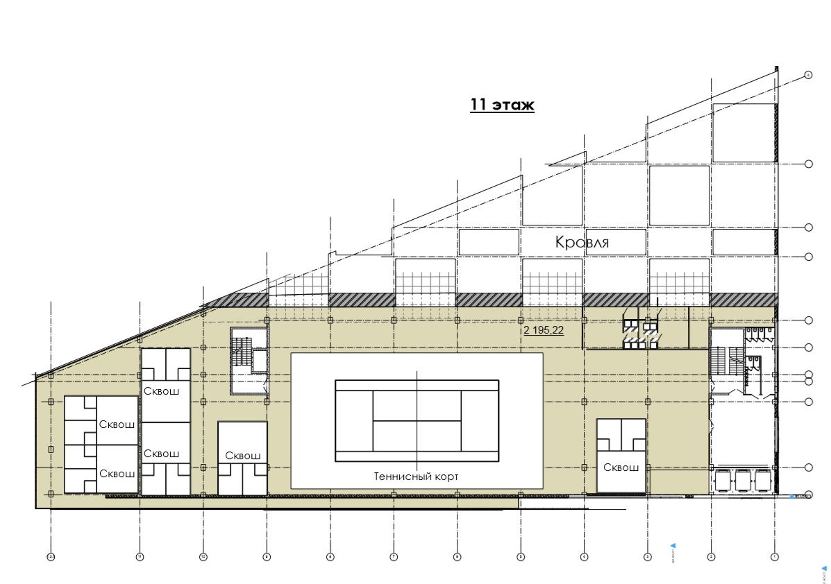 План 11 этажа