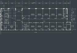 План 1 этажа адм блока