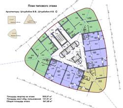 Типовой этаж 24 этажки
