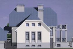 Вариант цветового решения фасада