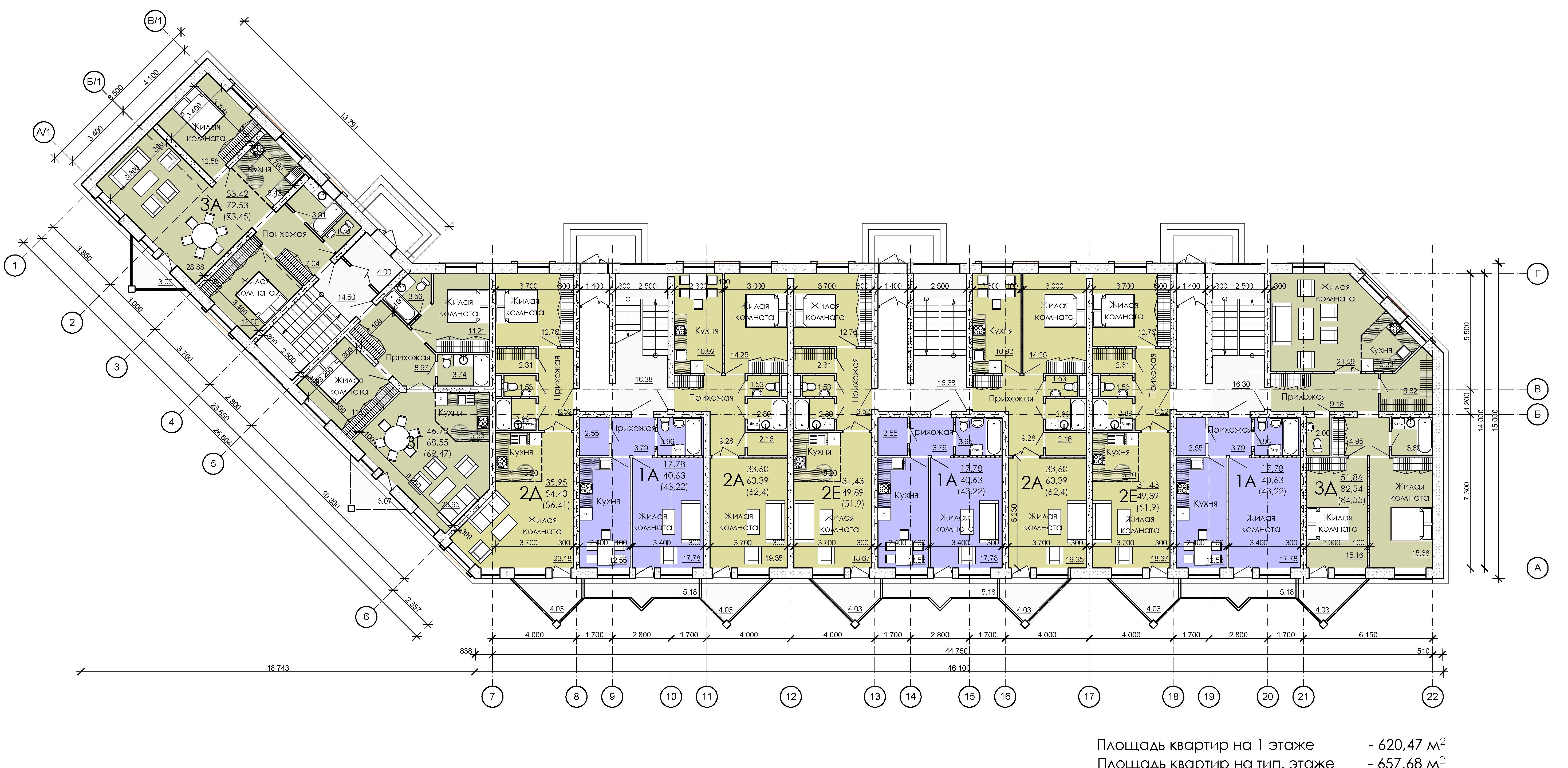 План 1 этажа дома №3